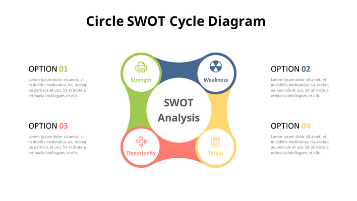 SWOT Cycle Analysis Diagram Animated Slides in PowerPoint_01