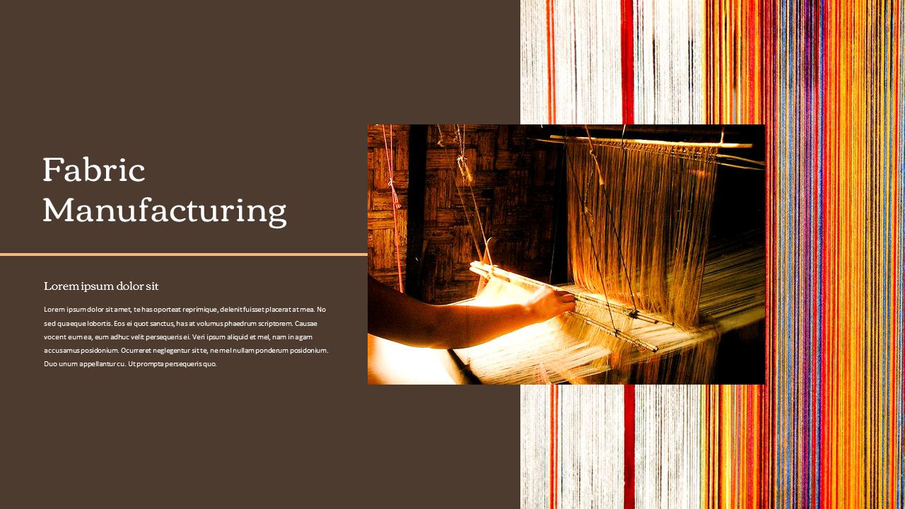 Textile Industry Powerpoint Presentation Design Fashion Templates