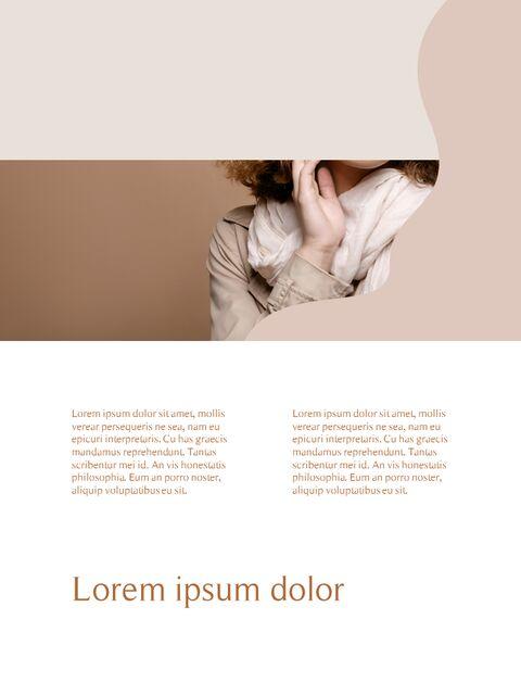 가을 Lookbook 추상 디자인 파워포인트 목차_10