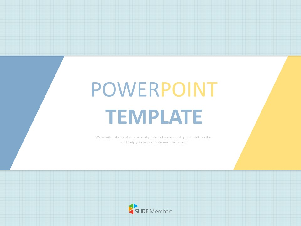 Free Presentation Templates Outline Of Titles Blue And Yellow Tip Part Triangle