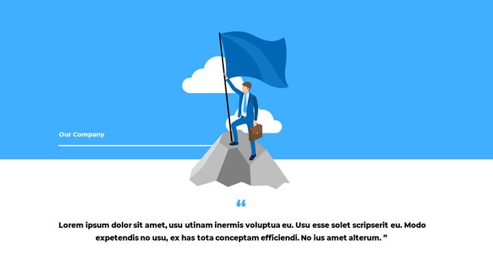 블루 비즈니스 일러스트레이션 피치덱 비즈니스 파워포인트 템플릿_02