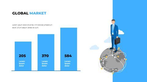 블루 비즈니스 일러스트레이션 피치덱 비즈니스 파워포인트 템플릿_09