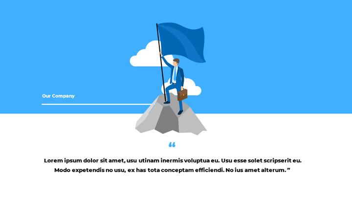 블루 비즈니스 일러스트레이션 피치덱 스타트업 프레젠테이션 템플릿_02