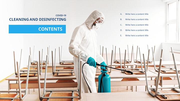 COVID-19 청소 및 소독 파워포인트 프레젠테이션_02