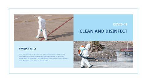 COVID-19 청소 및 소독 파워포인트 프레젠테이션_08