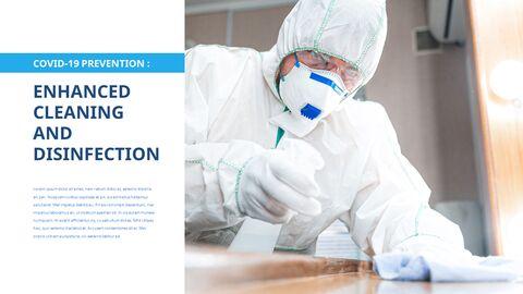 COVID-19 청소 및 소독 파워포인트 프레젠테이션_20