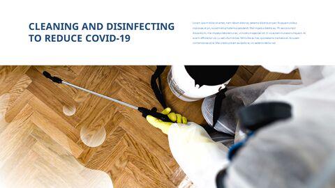 COVID-19 청소 및 소독 파워포인트 프레젠테이션_23