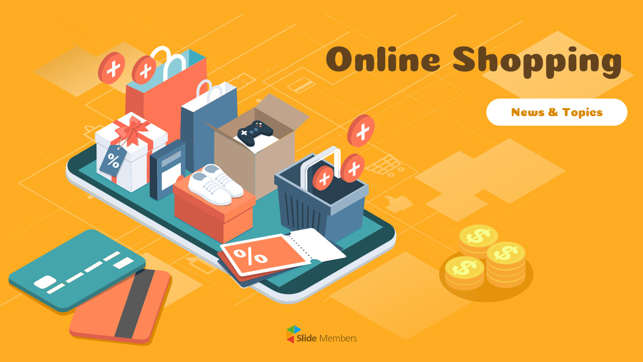 Online Shopping Powerpoint Themes Commerce Templates