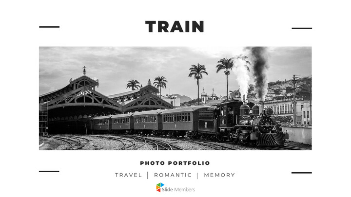 Train photo portfolio Presentations PPT_01