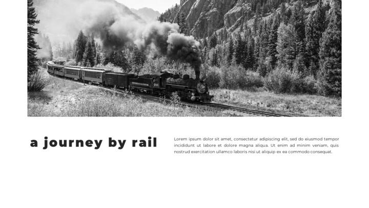 Train photo portfolio Presentations PPT_02