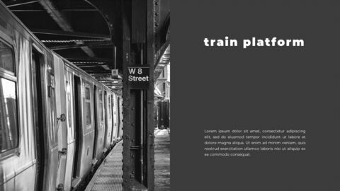Train photo portfolio Presentations PPT_03