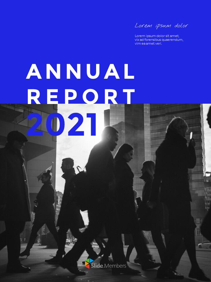 Blue Simple Layout 연례 보고서 비즈니스 사업 피피티_01