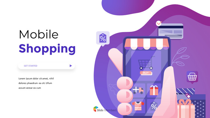 Mobile Shopping Service Animated Design powerpoint animation_01