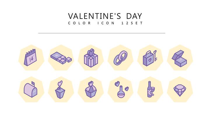 12 발렌타인 데이 벡터 아이콘 세트_01