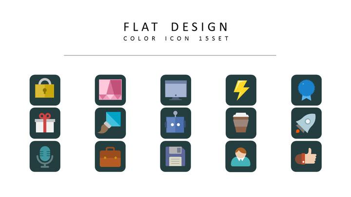 15 평면 디자인 디자이너를 위한 아이콘 리소스_01