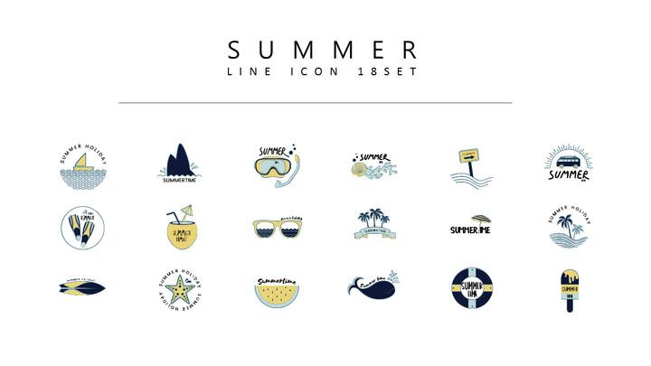 18 여름 벡터 아이콘 세트_01