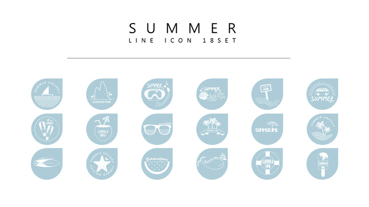 18 여름 벡터 아이콘 세트_02