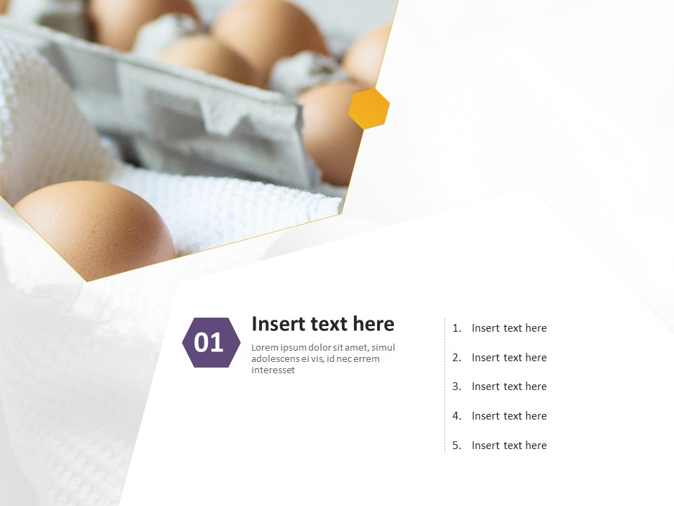 Free Powerpoint Template Eggs And Fried Eggs