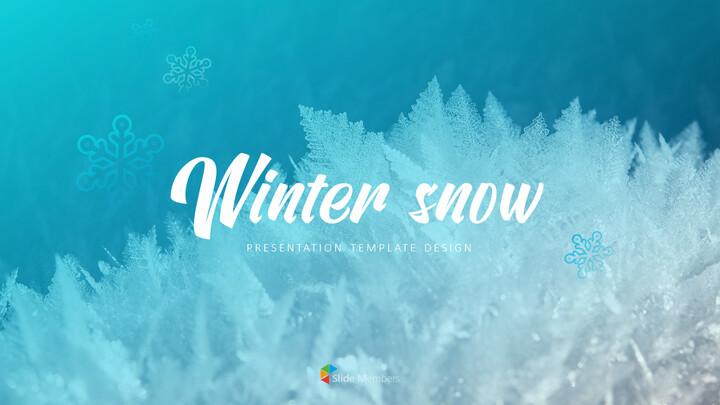 겨울 눈 파워포인트 프레젠테이션 슬라이드_01