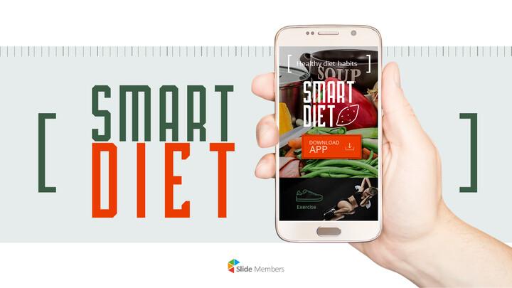 스마트 다이어트 앱 배경 파워포인트_01