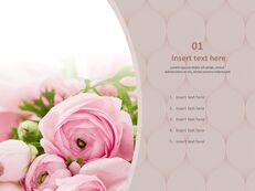Bouquet of Flowers As a Present - Free PPT Sample_03