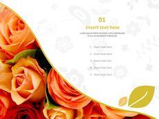Bouquet of Scarlet Flower - Free Powerpoint Sample_03