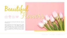 봄 꽃 프레젠테이션 PowerPoint 템플릿 디자인_05
