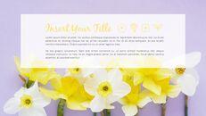 봄 꽃 프레젠테이션 PowerPoint 템플릿 디자인_10