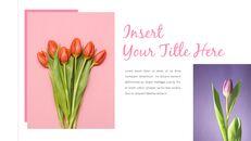 봄 꽃 프레젠테이션 PowerPoint 템플릿 디자인_12