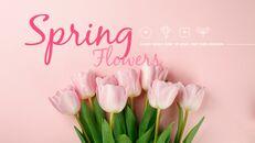 봄 꽃 프레젠테이션 PowerPoint 템플릿 디자인_14