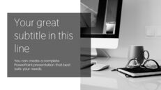 업무용 책상 심플한 프레젠테이션 Google 슬라이드 템플릿_08