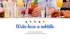 여름 칵테일 심플한 Google 슬라이드 템플릿_03