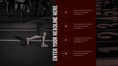 달리기, 육상, 마라톤 PowerPoint 템플릿 디자인_23