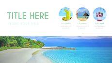 여름 해변 프레젠테이션 PowerPoint 템플릿 디자인_06