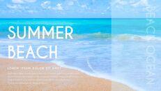 여름 해변 프레젠테이션 PowerPoint 템플릿 디자인_09