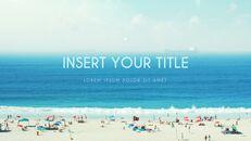 여름 해변 프레젠테이션 PowerPoint 템플릿 디자인_14
