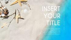 여름 해변 프레젠테이션 PowerPoint 템플릿 디자인_39