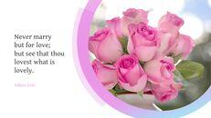 핑크 플라워 Google 슬라이드 프레젠테이션 템플릿_09