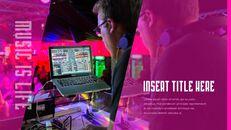 음악 축제 PowerPoint 템플릿 디자인_10