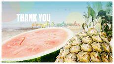 여름 파인애플 & 수박 구글 슬라이드_41