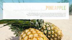 여름 파인애플 & 수박 PowerPoint 템플릿 디자인_03