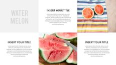 여름 파인애플 & 수박 PowerPoint 템플릿 디자인_07