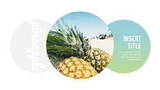 여름 파인애플 & 수박 PowerPoint 템플릿 디자인_12