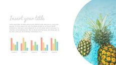 여름 파인애플 & 수박 PowerPoint 템플릿 디자인_18