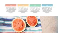여름 파인애플 & 수박 PowerPoint 템플릿 디자인_25