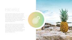 여름 파인애플 & 수박 PowerPoint 템플릿 디자인_27
