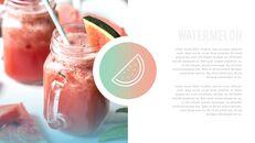여름 파인애플 & 수박 PowerPoint 템플릿 디자인_28