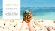 여름 파인애플 & 수박 PowerPoint 템플릿 디자인_32