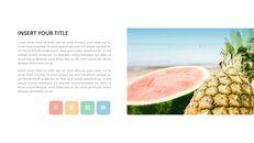 여름 파인애플 & 수박 PowerPoint 템플릿 디자인_33