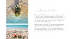 여름 파인애플 & 수박 PowerPoint 템플릿 디자인_34
